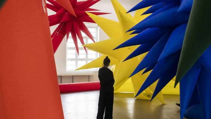 """Die Installation """"Light and Air"""" von Otto Piene (1928-2014) ist Teil der Ausstellung über den deutschen Künstler im Haus Konstruktiv in Zürich. Sie dauert vom 6. Februar bis 10. Mai."""