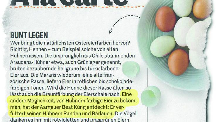 In der März-Ausgabe des Magazins «Migusto» von der Migros wurde die Idee nun aufgegriffen – nur haben die Redaktoren scheinbar den Hinweis «Aprilscherz» übersehen.