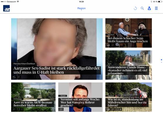 Die neue News-App auf dem Tablet.