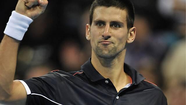 Novak Djokovic setzt sich in Basel gegen den Belgier Malisse durch