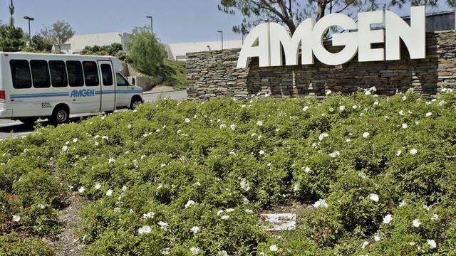 Das Amgen-Logo am Hauptsitz im kalifornischen Thousand Oaks (Archiv)