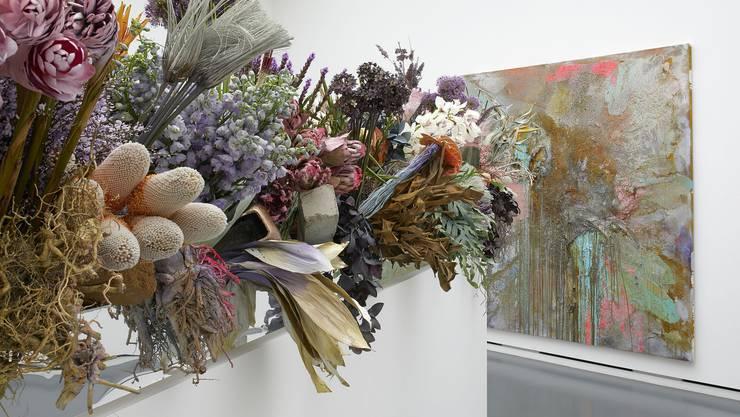 Florale Interpretation von Philipp von Arx und Angela Kaspar, Olten zum Werk von John M. Armleder, Staz, 2012