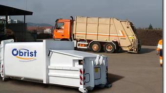 Die Obrist Recycling AG sicherte sich einen weiteren Auftrag. Im Bild ein Presscontainer, mit dem sich vor dem Transport loser Abfall verdichten lässt.