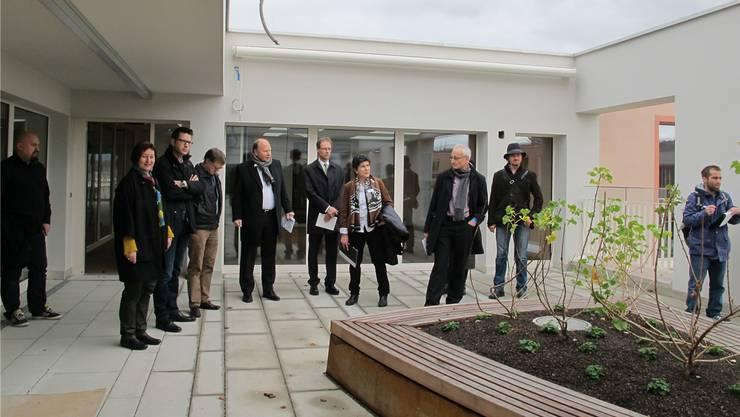Der grosszügige Dachgarten im Demenzbereich beeindruckte die Besucher.