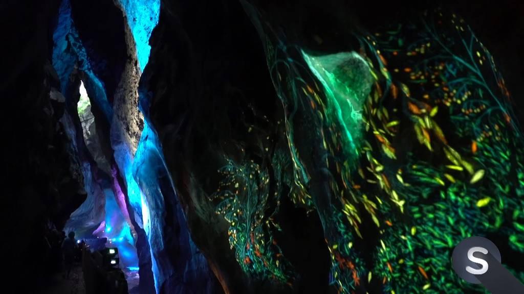 Light Ragaz: Intergalaktische Exkursion in der Taminaschlucht