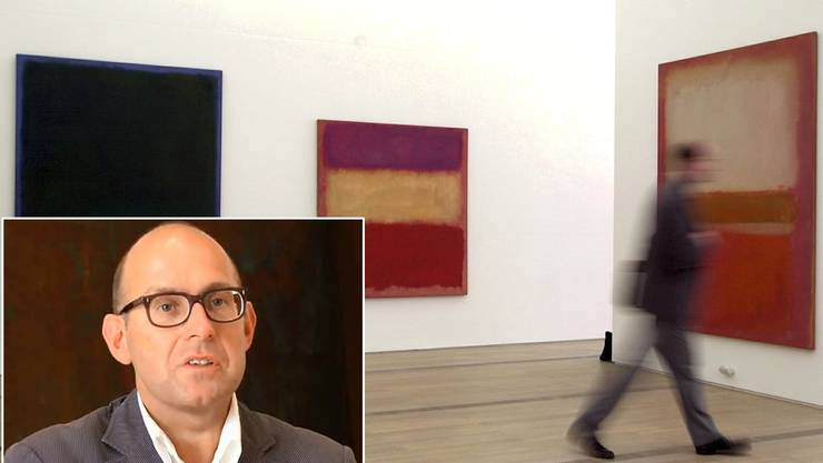 Blick in die Ausstellung Mark Rothko in der Fondation Beyeler von 2001, die Oliver Wick kuratiert hatte.