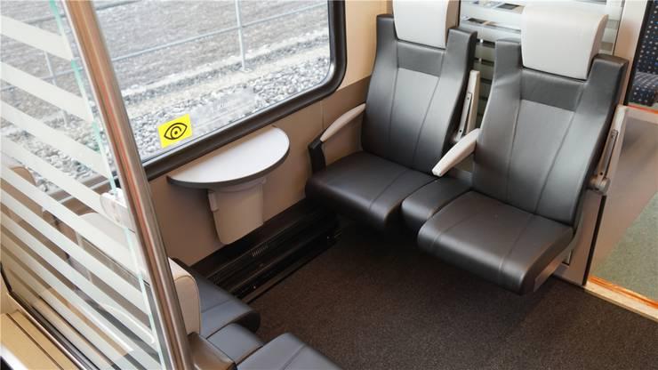 Auch im neuen Zug gibt es eine kleine Zahl Abteile 1. Klasse (18 Sitzplätze).