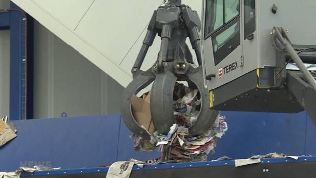 Grösste Recyclinganlage der Schweiz eröffnet