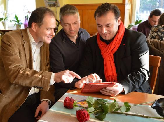 Das SP-Trio mit Peter Schafer, Thomas Marbet und Yabgu R. Balkaç (v.l.).