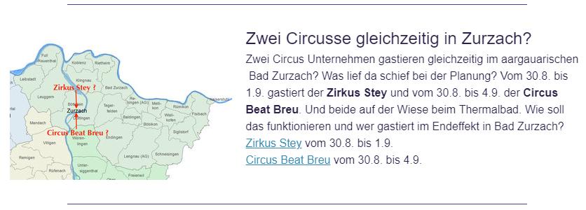 Screenshot: circustime.ch