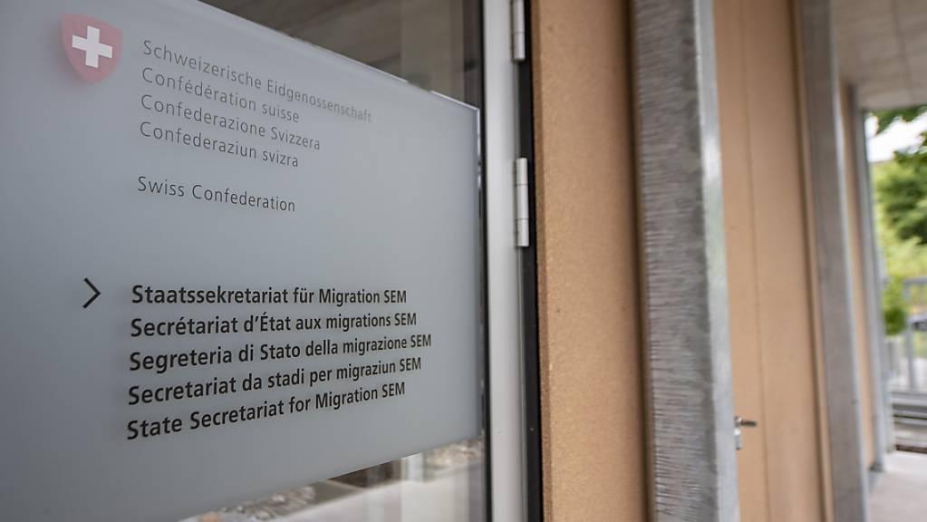 Das Bürogebäude des Bundesasylzentrums Basel: In den letzten Jahren habe gewalttätige Aktionen gegen Mitarbeitende und Einrichtungen des Staatssekretariats für Migration (SEM) zugenommen. (Archivbild)