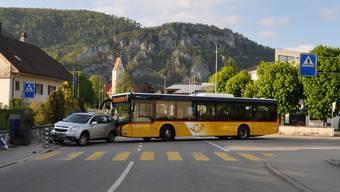 Zur Kollision kam es auf der Falkensteinstrasse.