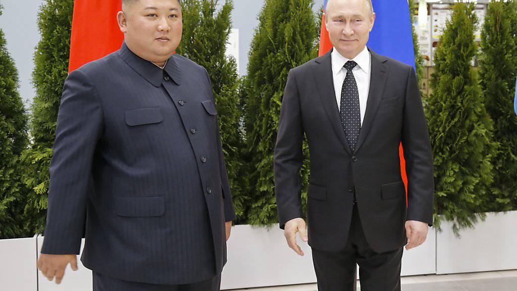 Gipfel in Wladiwostok: Putin und Kim erstmals zusammengetroffen