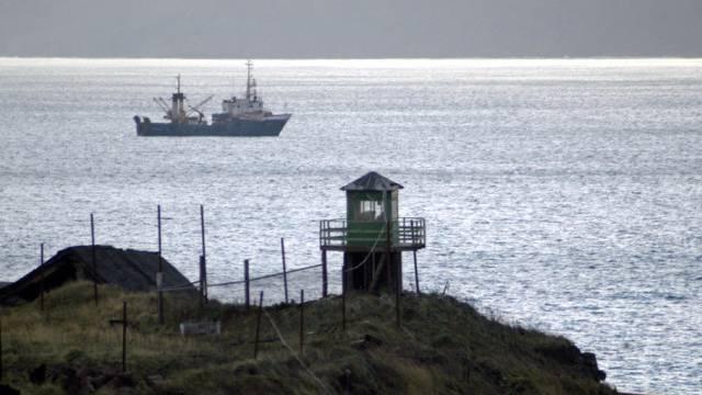 Ein Grenzwachtturm auf Kunashir, einer der Kurilen-Inseln (Archiv)