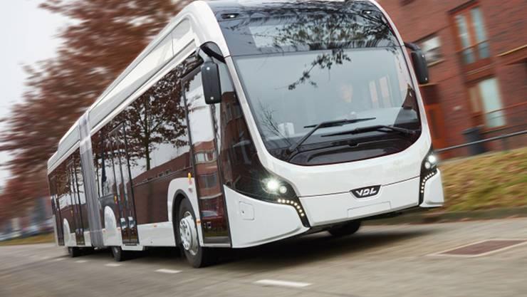 Die BVB-Elektrobusse stammen von der holländischen Firma VDL Bus & Coach– im Bild das Modell «Citea The E-Worker»