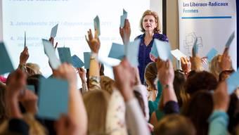 """Hat nicht damit gerechnet, dass so viele FDP-Frauen die """"Ehe für alle"""" unterstützen: Präsidentin Doris Fiala in Lausanne."""