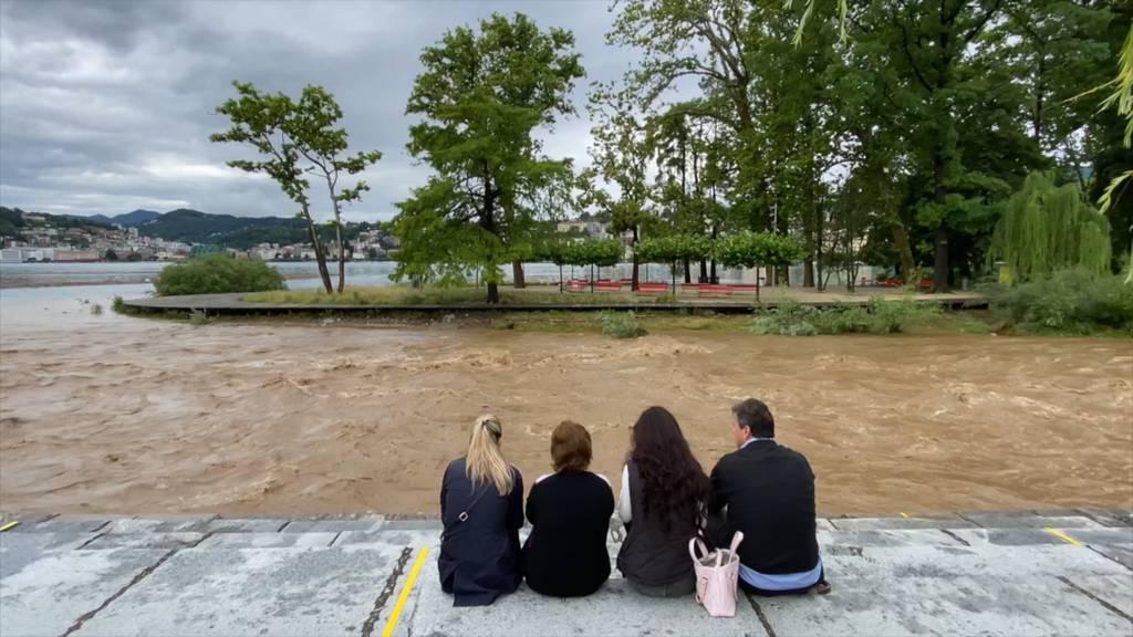 Tessin: Heftige Regenfälle sorgen für Überschwemmungen