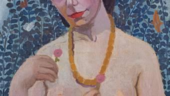 Paula Modersohn-Becker (1876–1907), Selbstbildnis als Halbakt, Sommer 1906.