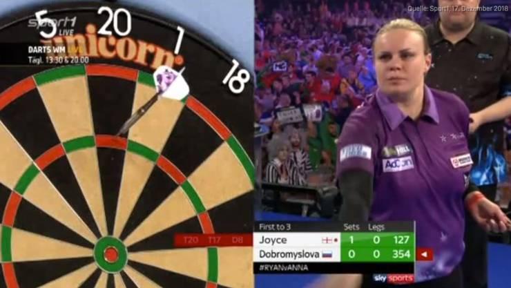 Anastasia Dobromyslova unterlag an der Darts-WM im Spiel deutlich gegen Ryan Joyce.