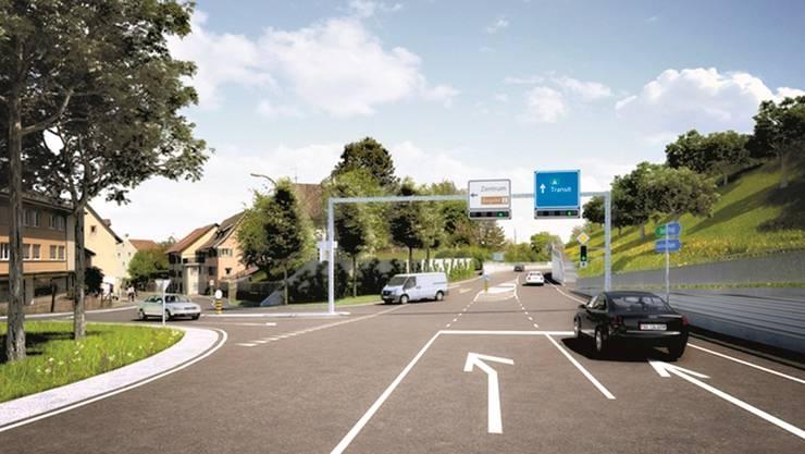 Der Kanton hält an Strassen-Grossprojekten wie der Ostumfahrung Bad Zurzach trotz Corona-Krise fest.