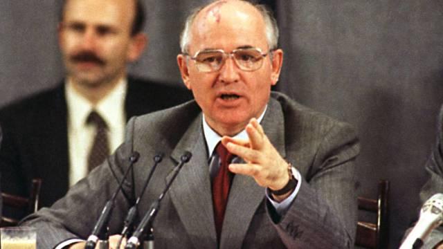 Der damalige sowjetische KPdSU-Parteisekretär Gorbatschow 1988