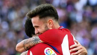 Saul Niguez (rechts) erzielte das entscheidende Tor für Atletico Madrid im Heimspiel gegen Eibar