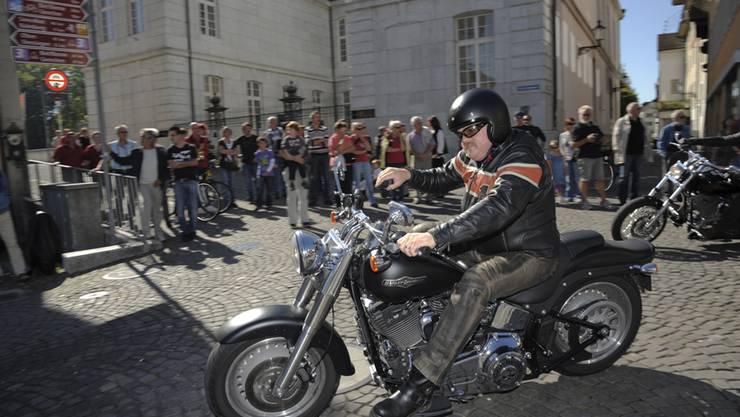 Auch dieses Jahr wieder dabei, die Harleys