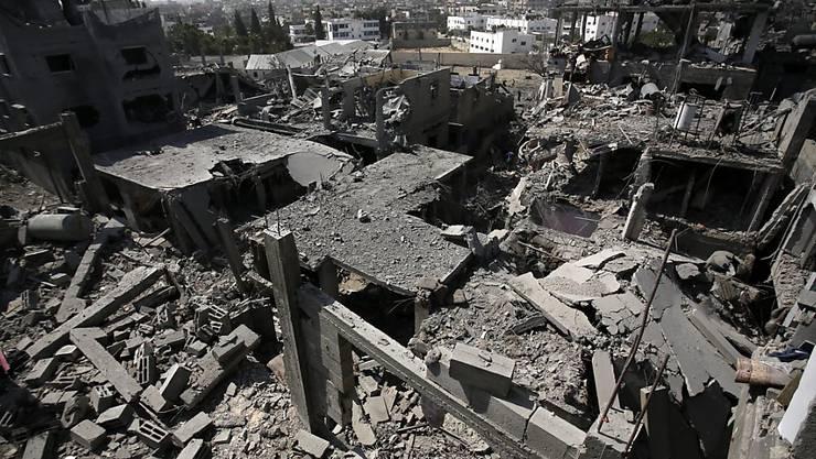 Blick auf Beit Hanun im Gazastreifen: Israels Luftwaffe beschiesst laut eigenen Angaben zwei Hamas-Trainingslager. (Symbolbild)