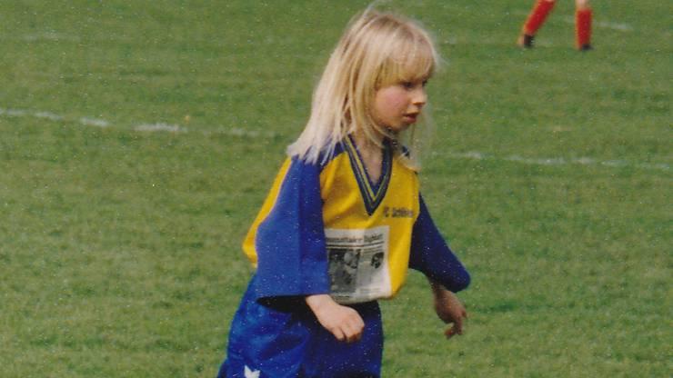 Die junge Patrizia beim FC Schlieren.