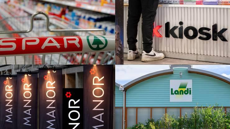 Detailhändler wie Landi, Manor, Valora und Spar sind wegen möglicher Absprachen im Visier der Wettbewerbskommission.