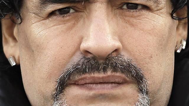 Diego Maradona musste Partie der Argentinier im Hotel ansehen