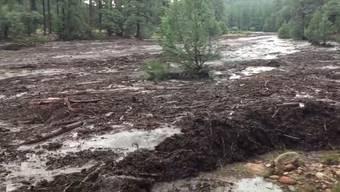 Die Filmer werden unter anderem dafür kritisiert, dass sie so nahe an der gefährlichen Flut blieben.