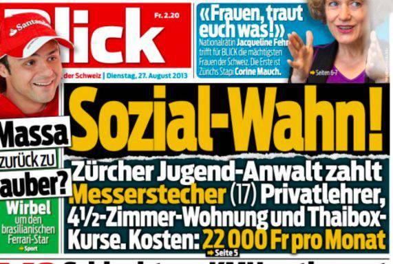 «Blick»-Schlagzeile zwei Tage nach der Ausstrahlung