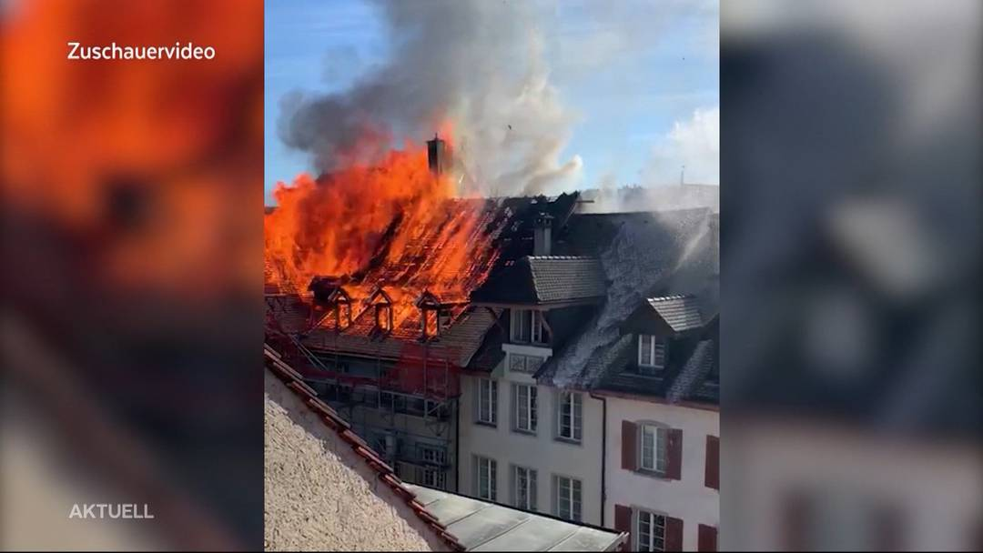 Brand in Aarauer Altstadt am 3. September 2019.