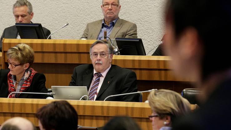 Wieder einmal im Fokus der Landratsdebatten: Finanzdirektor Adrian Ballmer. Kenneth Nars