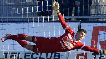 Bitter für FCW-Goalie Flamur Tahiraj: Beim 0:4 in Schaffhausen kassierte die Mannschaft die Gegentreffer Nummer 62, 63, 64 und 65. (Archiv)