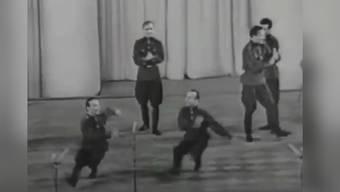 Den Account gibt es erst seit August - die Videos begeistern aber jetzt schon Hunderttausende auf der ganzen Welt: Der Macher des Twitter-Accounts @communistbops hat Videos von tanzenden sowjetischen Soldaten mit zeitgenössischer Musik unterlegt. Das Ergebnis ist aussergewöhnlich amüsant und verbreitet sich deswegen rasend schnell.