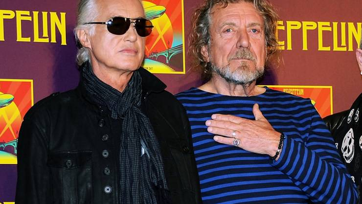 Led Zeppelin-Gitarrist Jimmy Page (links) und Sänger Robert Plant. (Archivbild)