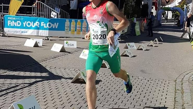 Der Schinznacher Csaba Gerber am OL-Weltcup in Laufen