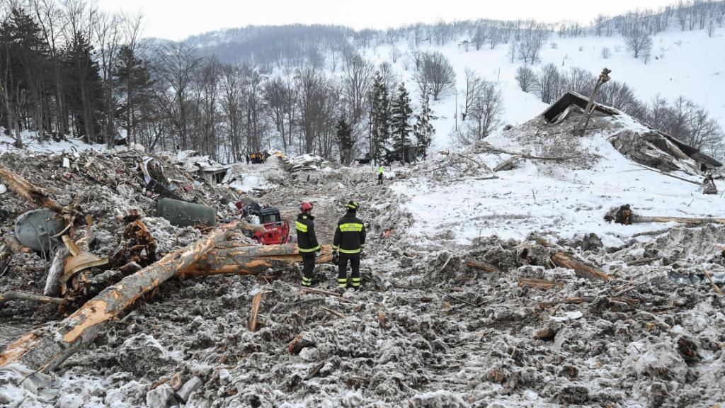 Trümmer des Hotels Rigopiano nach dem Lawinenunglück. Die meisten Todesopfer wurden durch die Wucht der Lawine erschlagen und starben schnell, wie die Obduktion ergab. (Archiv)