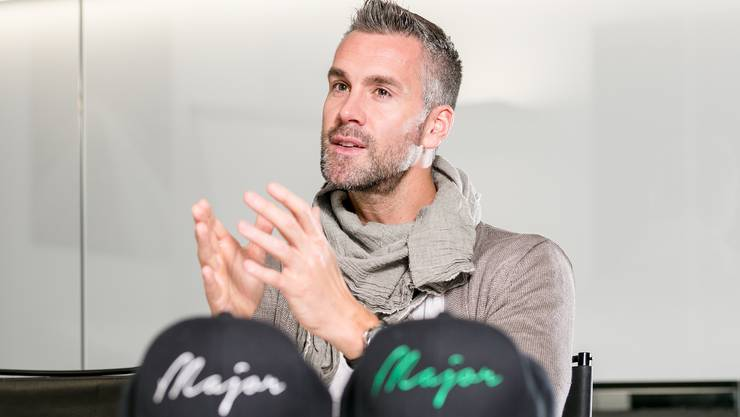 FC-Aarau-Stürmer Stefan Maierhofer. Fotografiert am 29. November 2018 im Newsroom.
