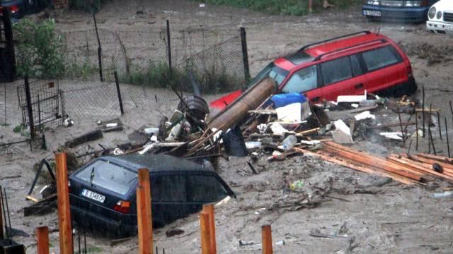 Überflutete Strassen in Warna, Bulgarien