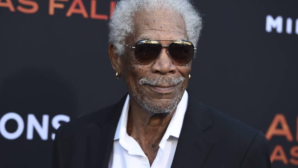 ARCHIV - Morgan Freeman bei der Premiere des Films «Angel Has Fallen» 2019 in Los Angeles. Foto: Jordan Strauss/Invision/AP/dpa