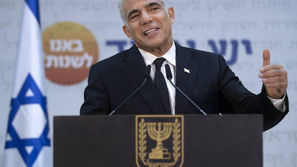 ARCHIV - Jair Lapid, Vorsitzender der israelischen Partei Yesh Atid. Foto: Oded Balilty/AP/dpa Foto: Oded Balilty/AP/dpa