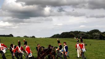 Inszenierung von Napoleons letzter Schlacht (Archiv)