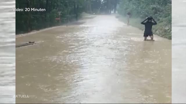 Überschwemmungen: Rettungskräfte rücken 300 Mal aus