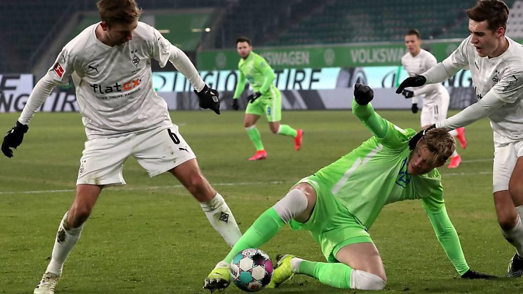 Viel Kampf, keine Tore: Gladbach und Wolfsburg spielen 0:0
