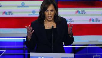 Kamala Harris während ihrer ersten grossen TV-Debatte im Wahlkampf 2020: Sie ritt heftige Angriffe auf Joe Biden. Keystone