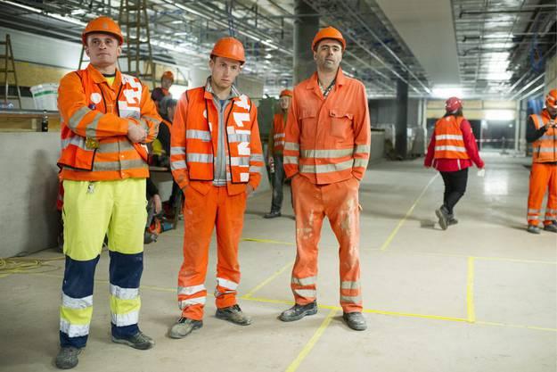 Grzegorz, Maciej und Adam, von links, drei der polnischen Arbeiter, denen nach einem Fall von Lohndumping gekündigt wurde.