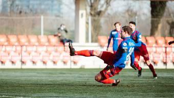 Einen Tag nach seinem 32. Geburtstag erzielt Fabian Frei das 1:1 im Testspiel gegen den FC Thun.